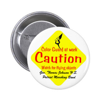 Colorguard, patriota M de Gov. Thomas Johnson H.S. Pin Redondo 5 Cm