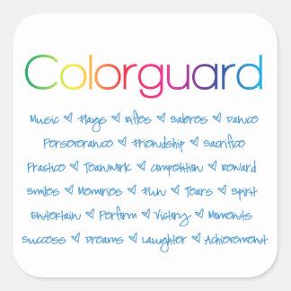 Colorguard Pegatina Cuadrada