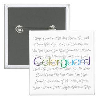 Colorguard Pin Cuadrada 5 Cm