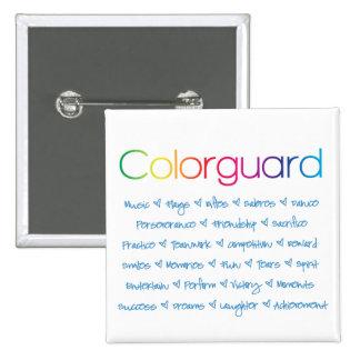 Colorguard Pin Cuadrado