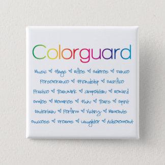 Colorguard Pinback Button