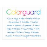 Colorguard Tarjeta Postal