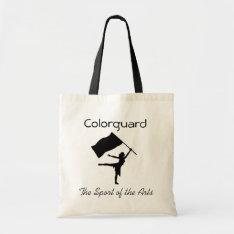 Colorguard; The Sport of the Arts Tote Bag at Zazzle