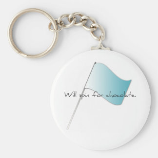 """Colorguard """"Will spin for chocolate"""" Basic Round Button Keychain"""