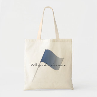 """Colorguard """"Will spin for chocolate."""" Tote Bag"""