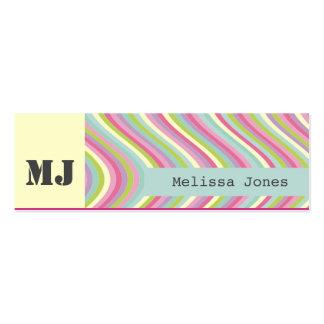 Colori Pastello Monogram Calling Mini Business Card