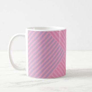 Colori Pastello Rose and Lavender Chevron Striped Coffee Mug