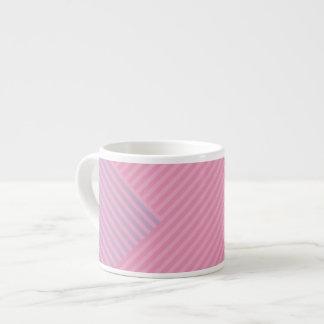 Colori Pastello Rose and Lavender Chevron Striped Espresso Cup