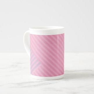 Colori Pastello Rose and Lavender Chevron Striped Tea Cup