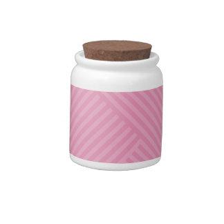 Colori Pastello Rose Chevron Striped Candy Dish