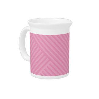 Colori Pastello Rose Chevron Striped Drink Pitcher