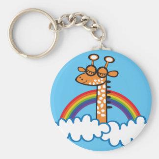 Colorida Jirafa. Giraffe. Arcoiris, rainbow. Keychain