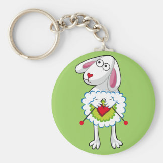Colorida Oveja Tejedora. Sheep. Keychain