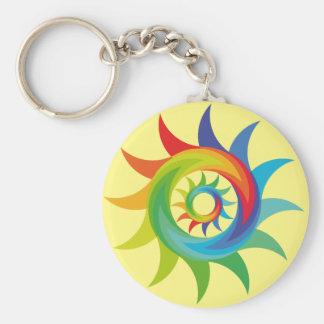 Coloridas formas patrón abstracto soles keychain
