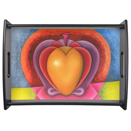 Coloridas Frutas, manzana, mango, corazón