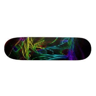 colorido abstracto diseñado por tutti tabla de skate