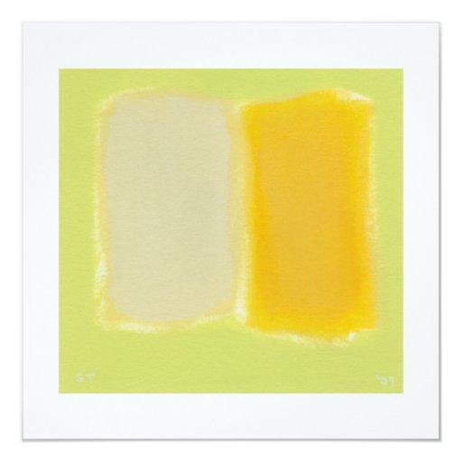 """Colorido caliente soleado de la pintura invitación 5.25"""" x 5.25"""""""