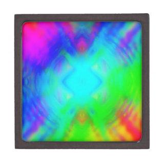 colorido chillón caja de recuerdo de calidad