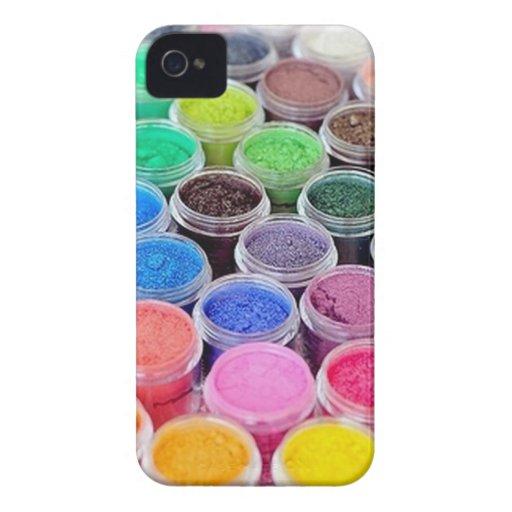 Colorido componga el pigmento iPhone 4 Case-Mate cobertura