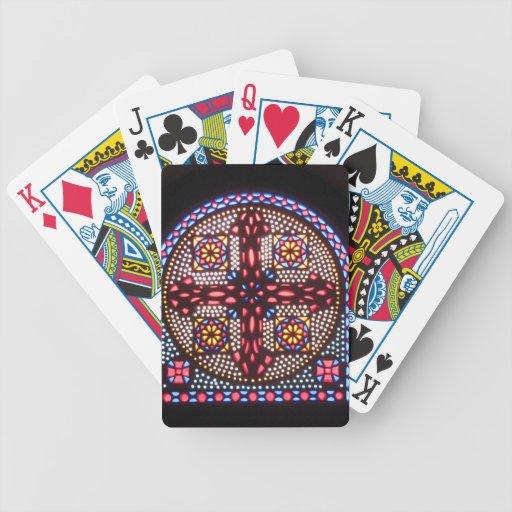 Colorido CRUZADO y hermoso COPTOS Baraja Cartas De Poker