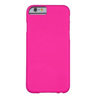 Colorido de gama alta de color rosa oscuro funda para iPhone 6 barely there