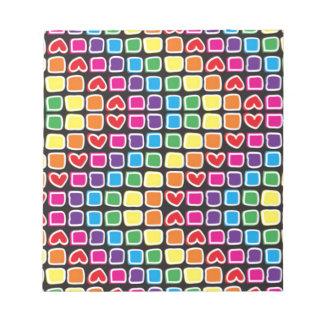 colorido del zigzag del em del padrão blocs de notas