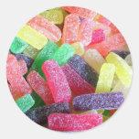 Colorido dulce del caramelo pegatinas redondas