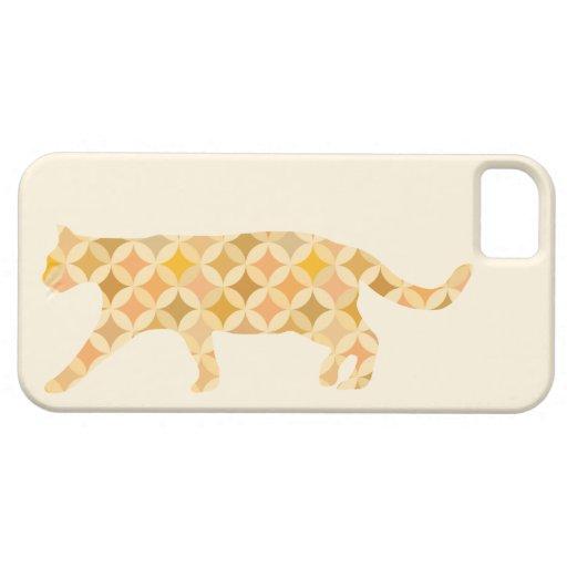 Colorido felino iPhone 5 cárcasas