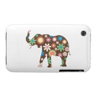 Colorido floral de las flores retras enrrolladas funda para iPhone 3 de Case-Mate