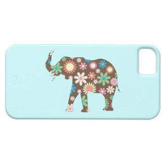 Colorido floral de las flores retras enrrolladas funda para iPhone SE/5/5s