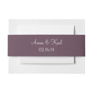 Colorido formal de la berenjena cintas para invitaciones