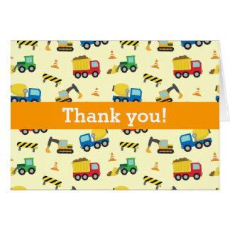 Colorido gracias, modelo de los vehículos de la tarjeta de felicitación