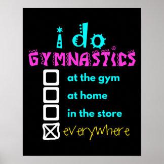 Colorido - hago la gimnasia por todas partes póster