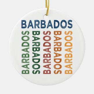 Colorido lindo de Barbados Adorno Redondo De Cerámica