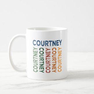 Colorido lindo de Courtney Taza De Café