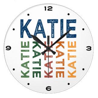 Colorido lindo de Katie Reloj Redondo Grande
