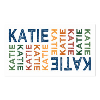 Colorido lindo de Katie Tarjetas De Visita