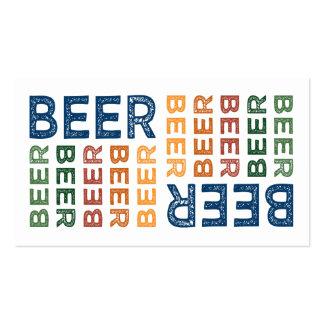 Colorido lindo de la cerveza tarjeta personal