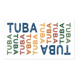 Colorido lindo de la tuba tarjeta de visita