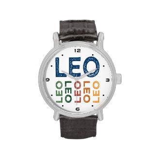 Colorido lindo de Leo Relojes De Pulsera