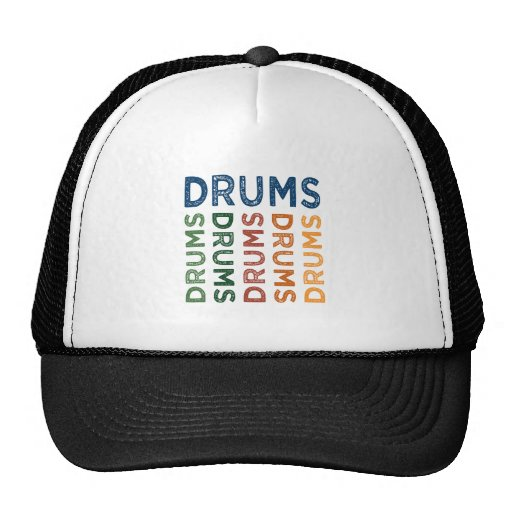 Colorido lindo de los tambores gorros bordados
