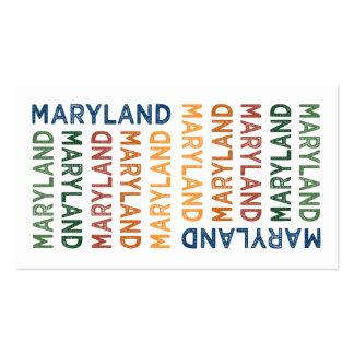 Colorido lindo de Maryland Tarjetas De Visita