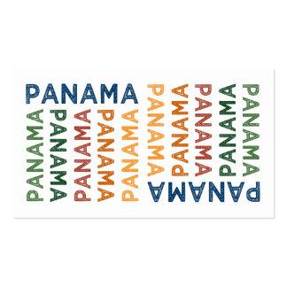 Colorido lindo de Panamá Tarjeta De Visita
