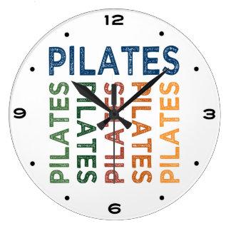 Colorido lindo de Pilates Reloj Redondo Grande