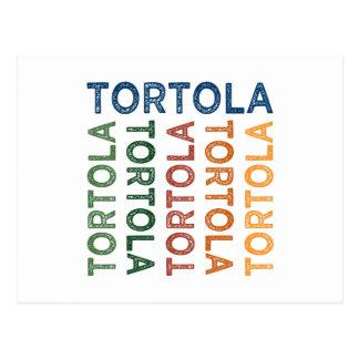Colorido lindo de Tortola Tarjeta Postal