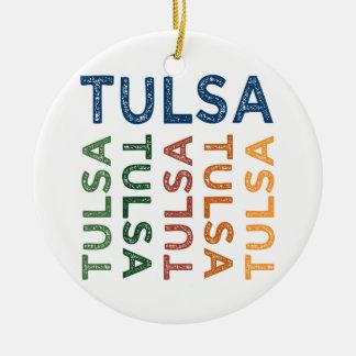 Colorido lindo de Tulsa Adorno Redondo De Cerámica