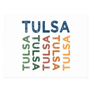 Colorido lindo de Tulsa Tarjetas Postales