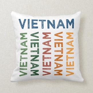 Colorido lindo de Vietnam Cojín Decorativo