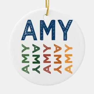 Colorido lindo del Amy Adorno Redondo De Cerámica