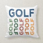 Colorido lindo del golf almohadas
